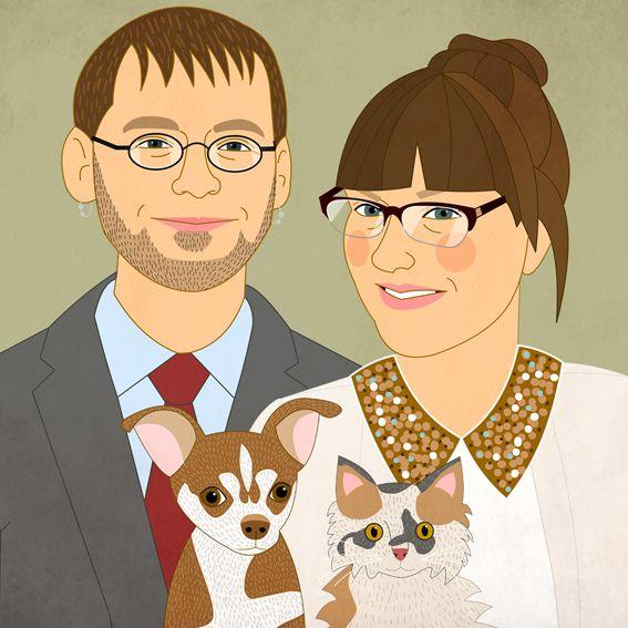Wedding invitations with custom portraits. #wedding #weddinginvitation #weddingportrait #customportrait #coupleportrait #etsybestgifts #etsyfinds #weddingidea