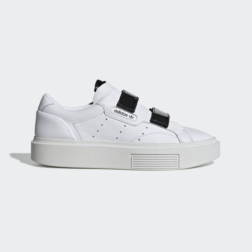 maíz Excremento Mirar atrás  adidas Sleek Super Shoes - White | adidas US | White adidas, Lace sneakers,  Shoes