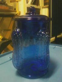Cobalt Blue Planters Peanut Jar Vintage Jars Planters Peanuts Jar