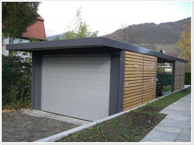 Carport fotoarchiv carport pinterest car ports for Carport fence ideas