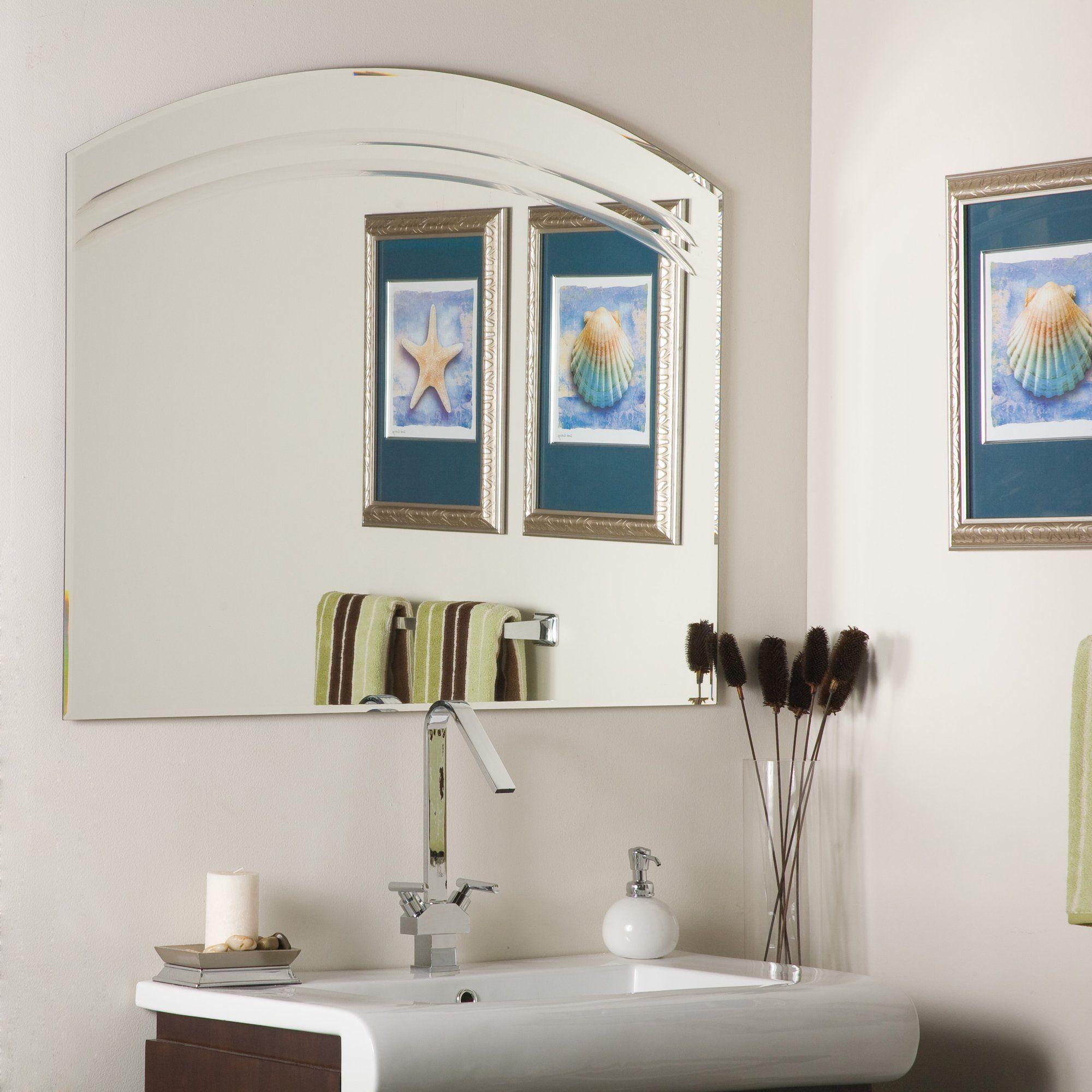 Large 39 5 X 31 5 Arch Crowned Top Beveled Angel Frameless Decorative Mirror By Decor Wonderland Walmart Com Mirror Wall Mirror Decor Mirror Wall Decor