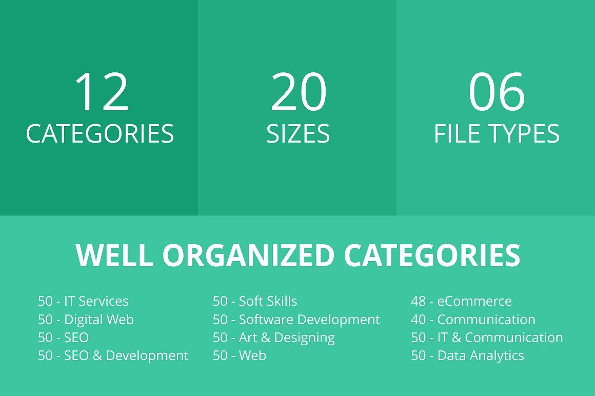 588 Services Flat Icons Cover Formats File Ai Digital Web