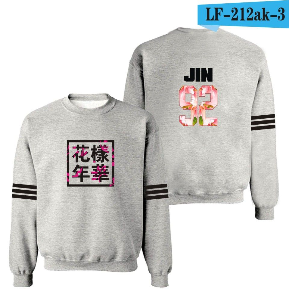 d53536611 Find More Hoodies & Sweatshirts Information about Kpop bts bangtan boys  album same floral chinese letters printing sweatshirt fashion pullover  hoodie for ...