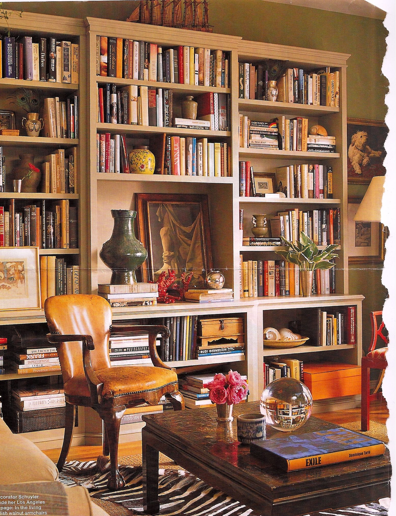 Living Room Like A Library: Inspiration For One Room Of The Home Library