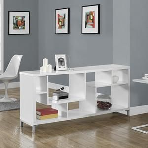 $285  60 in. Hollow-Core Tv Console in White
