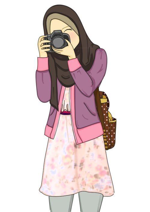 Love It Hijab Anime Hijab Drawing Hijab Cartoon Dan Anime Muslimah