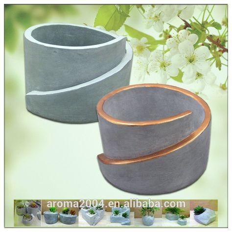 Kupfer Rim Sukkulenten Zement Pflanzer Beton Garten Töpfe - Buy - beton basteln garten