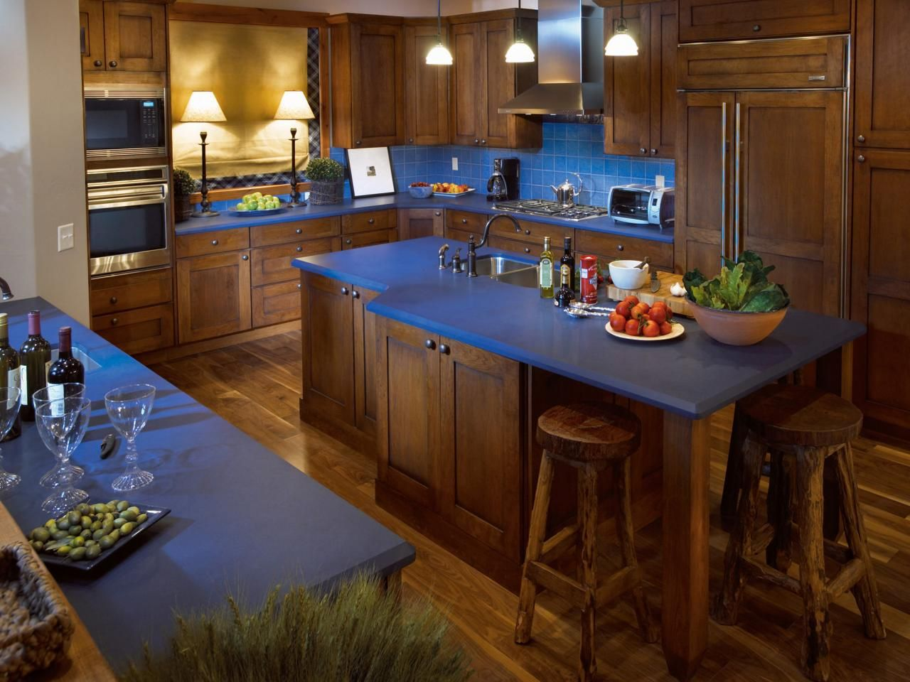 Kitchen Island Color Options Blue Kitchen Countertops Blue