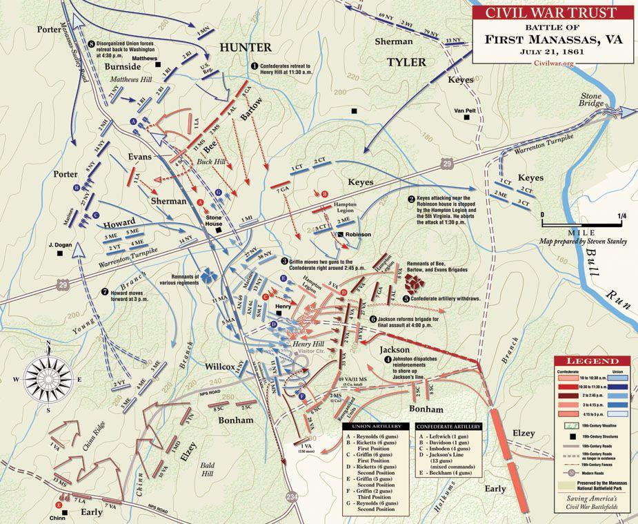 battle of bull run map