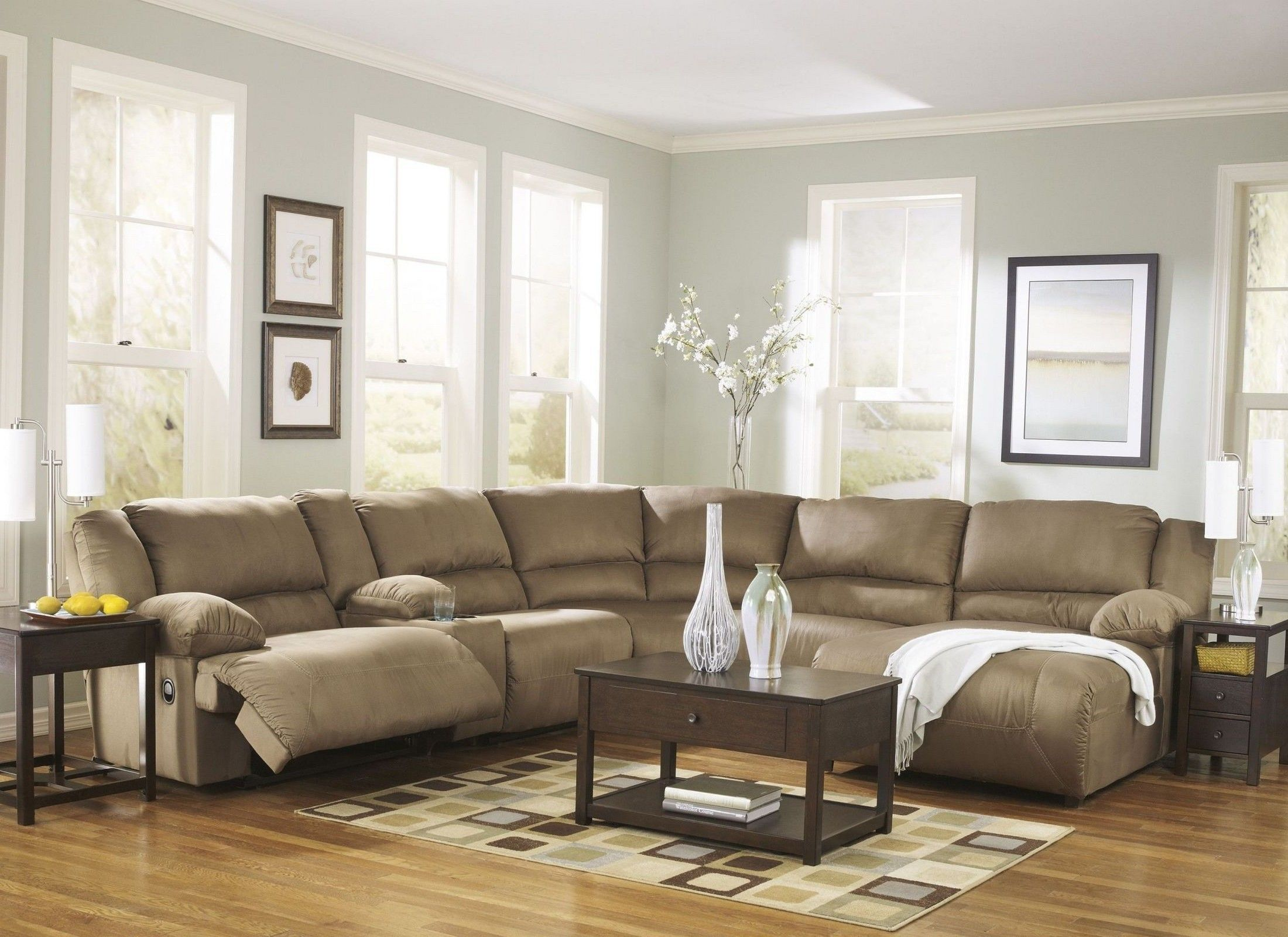 Hogan Mocha Right Chaise Reclining Sectional from Ashley ...