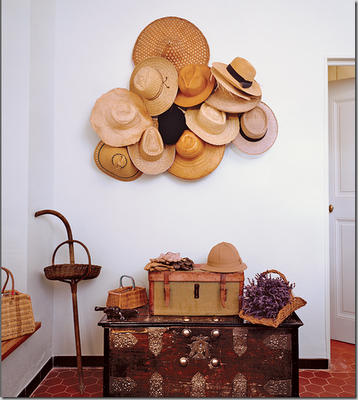 The Wicker House Decorating With Straw Hats Hat Display Decor