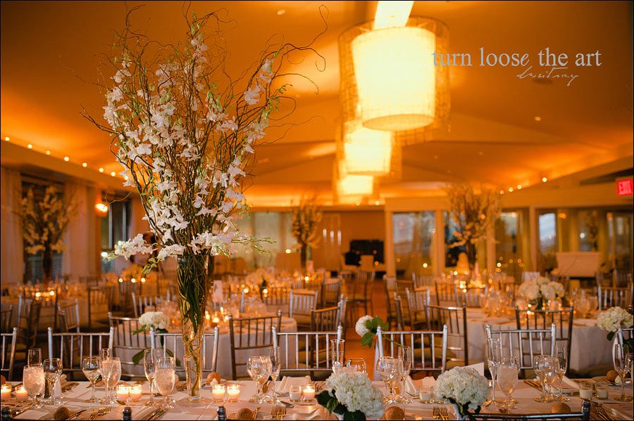 Battery Gardens Garden Wedding Wedding Tall Centerpieces