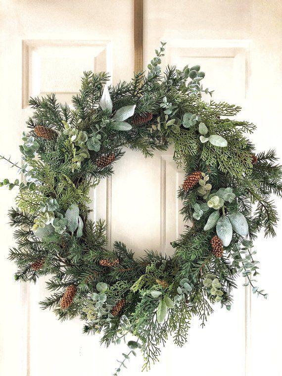Photo of Christmas Wreath ~ Christmas Wreaths ~ Christmas Farm Wreath ~ Christmas Winter …