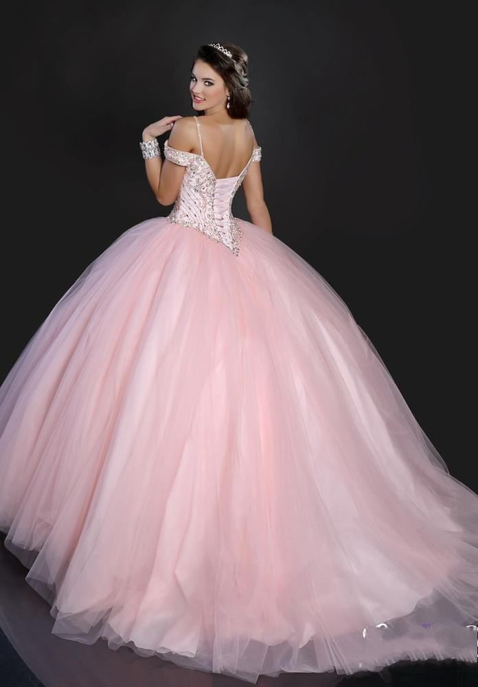 Hot Pink Ball Gown Sweet 16 Quinceanera Dresses Prom Party Pageant ...