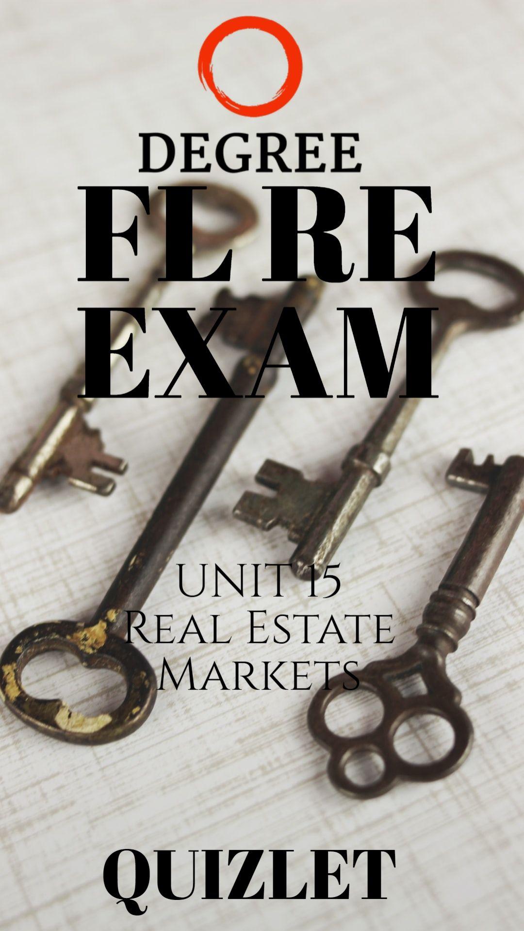 Fl Real Estate Exam Quizlet Real Estate Exam Real Estate Real Estate Marketing
