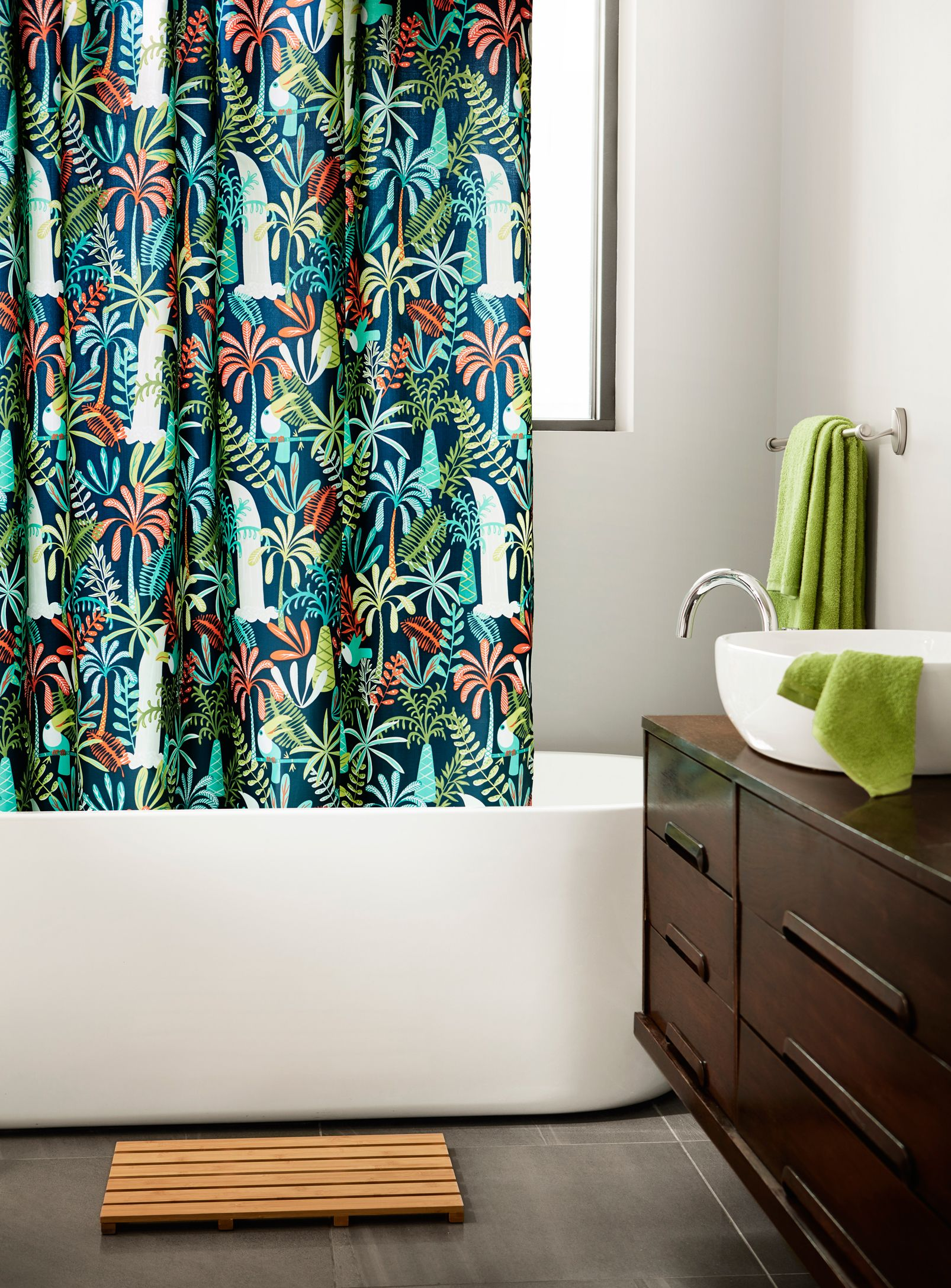 Parrot Island Shower Curtain Curtains Fabric Shower Curtains