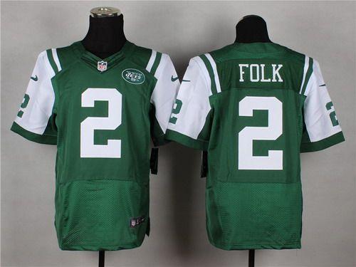 nike new york jets 2 nick folk green elite jersey