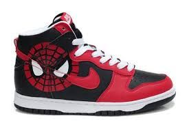 low priced 79eb5 15490 Spider man nike shoes. Spiderman HIgh dunk red and black sneakers.