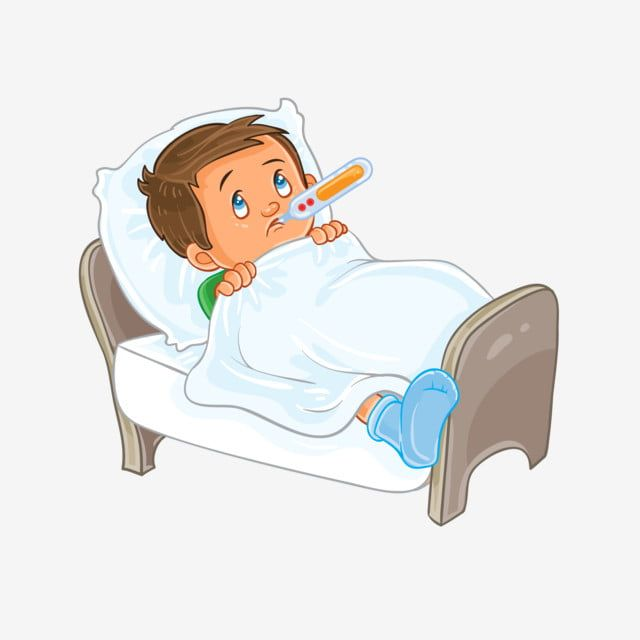 Gambar Vektor Sakit Anak Kecil Terbaring Di Tempat Tidur Dengan Termometer Clipart Sakit Vektor Budak Lelaki Png Dan Vektor Untuk Muat Turun Percuma Ilustrasi Orang Ilustrasi Kartun