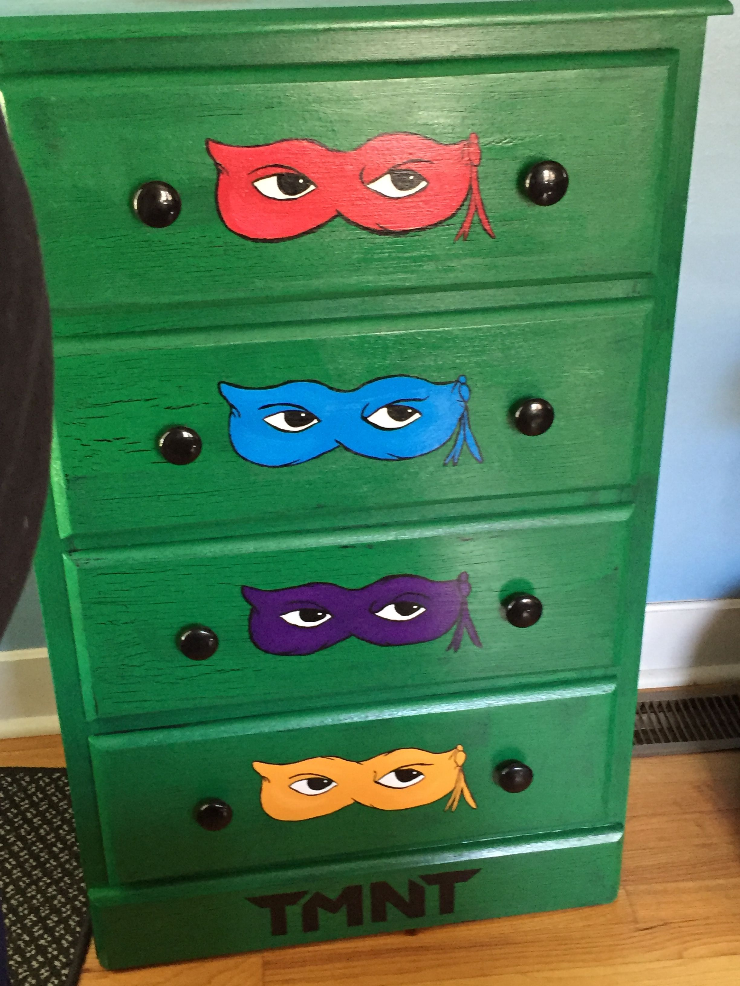 Teenage Mutant ninja turtles dresser | Dresser makeover ...