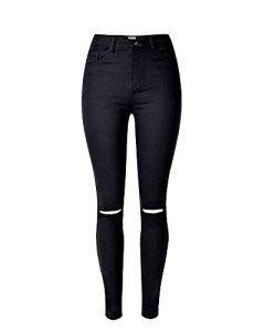 Jeans taille haute classique