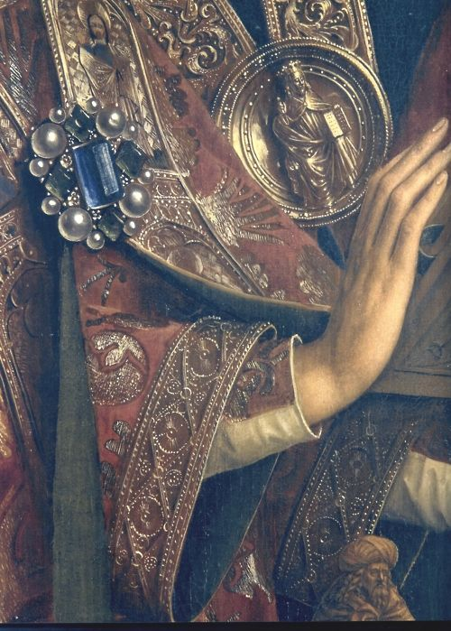 Detail. The Ghent Altarpiece or Adoration of the Mystic Lamb (Dutch: Het Lam Gods or The Lamb of God; completed 1432) is a very large and complex Early Flemish polyptych panel painting which is considered to be one of Belgium's masterpieces and one of the world's treasures.