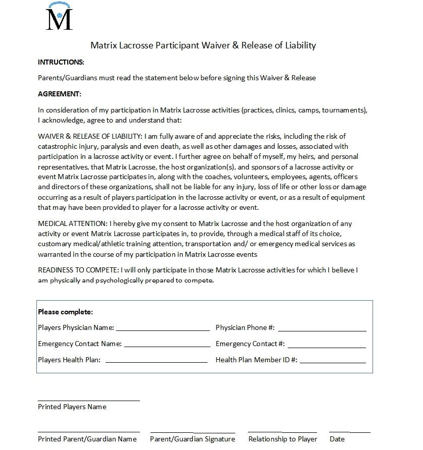 waiver and release form Try Pinterest