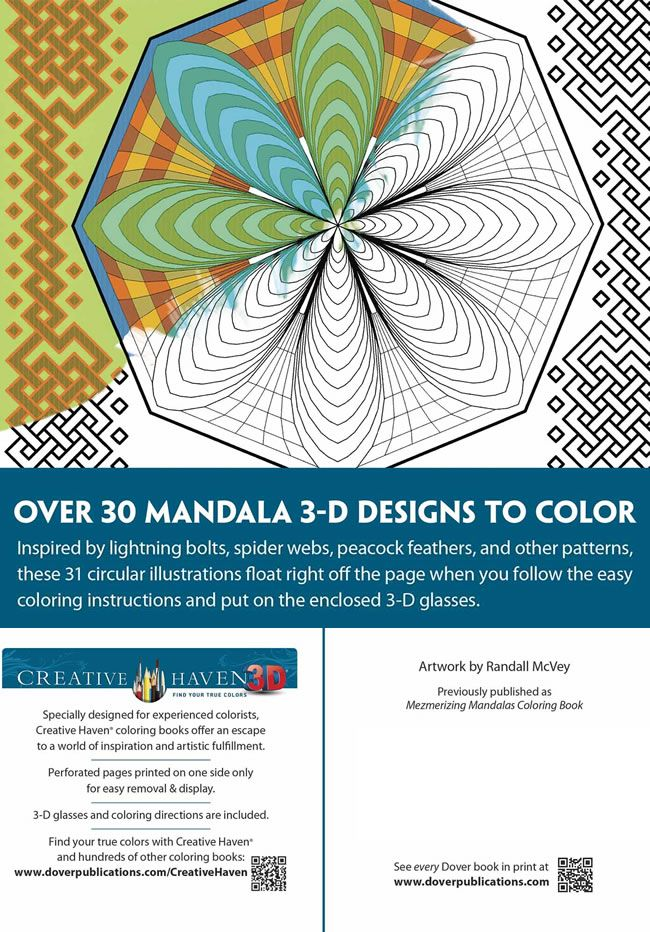 Creative Haven 3D Modern Mandalas Coloring Book  Creative Haven