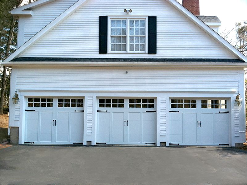 Clopay Coachman Design 12 With Sq 24 Windows White Overlay And White Base 2 Urethane R Value Of Garage Doors Carriage House Garage Doors Garage Door Design