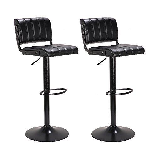 Swell Lch 24 33 Pu Leather Adjustable Bar Stools Stylish Ibusinesslaw Wood Chair Design Ideas Ibusinesslaworg