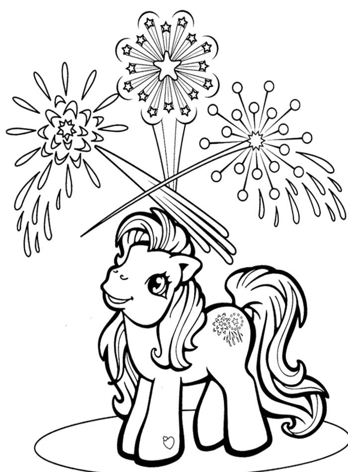 my little pony see fireworks coloring page - Firework Coloring Pages Printable