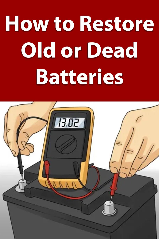 Diy Battery Reconditioning Batteries Diy Repair Batteries