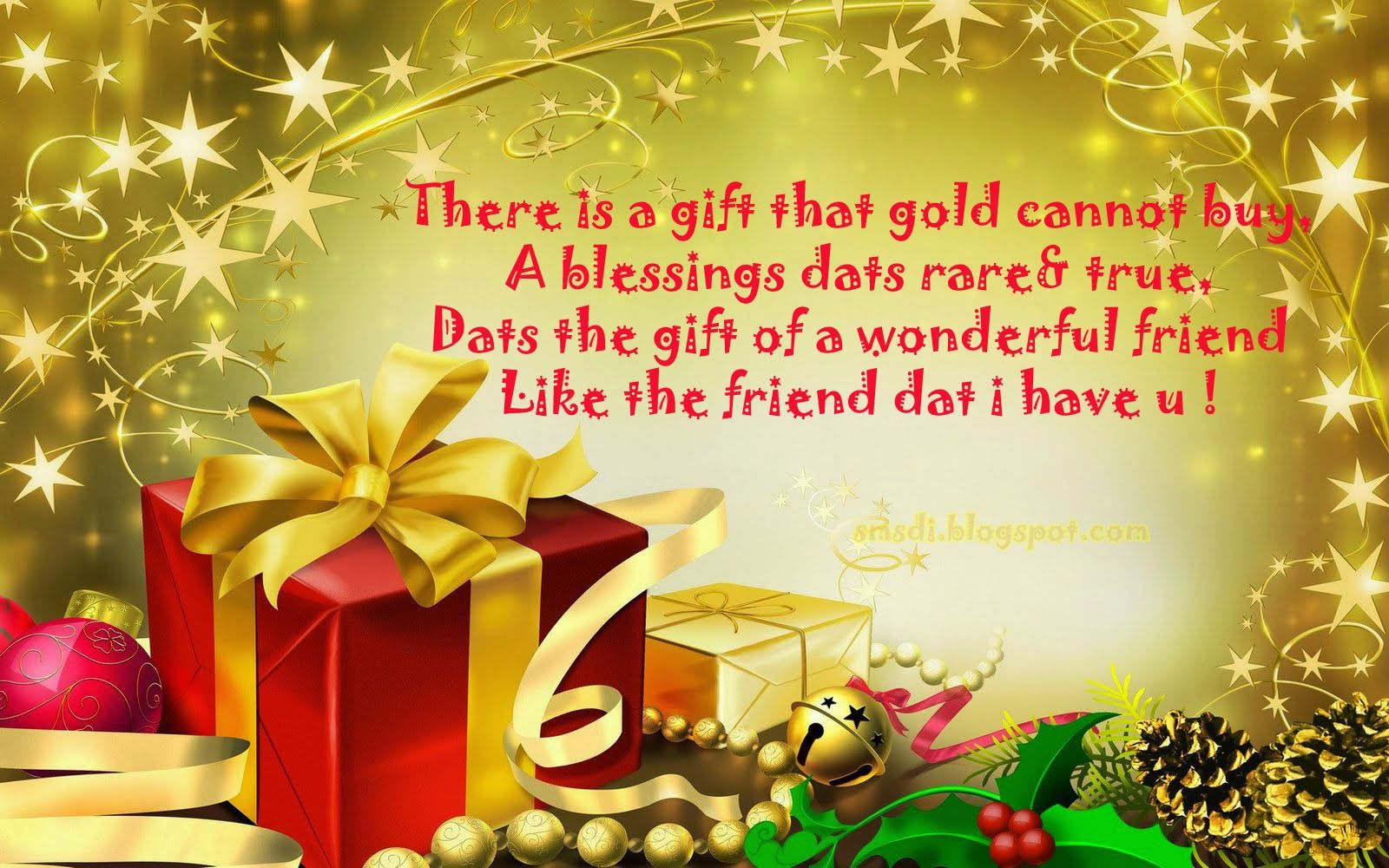 SMS: Best gifts of friends | Sms Dialogue | Pinterest | Christmas ...