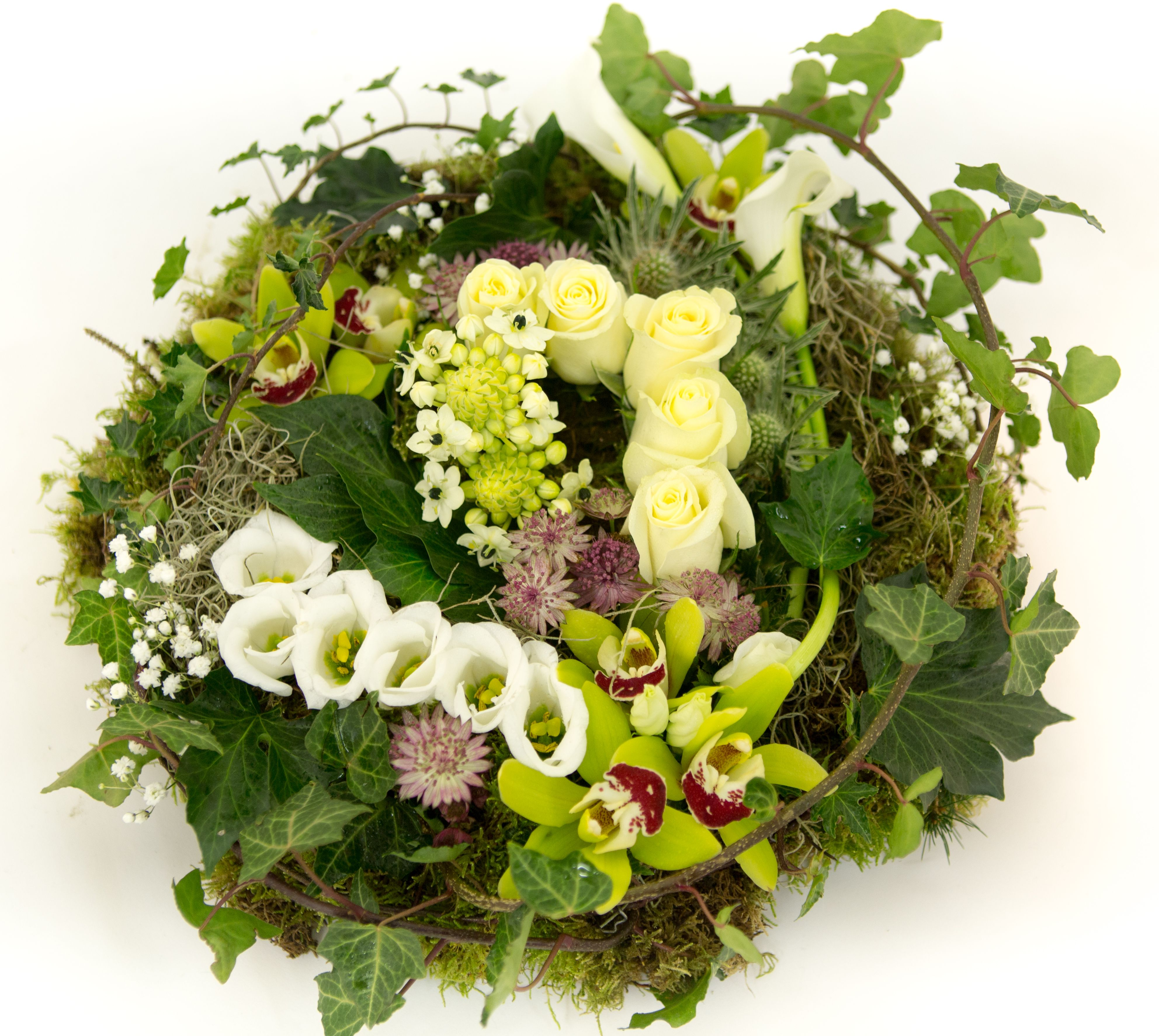 A Textured Posy Pad Just One Of The Many Sympathy Tributes Available