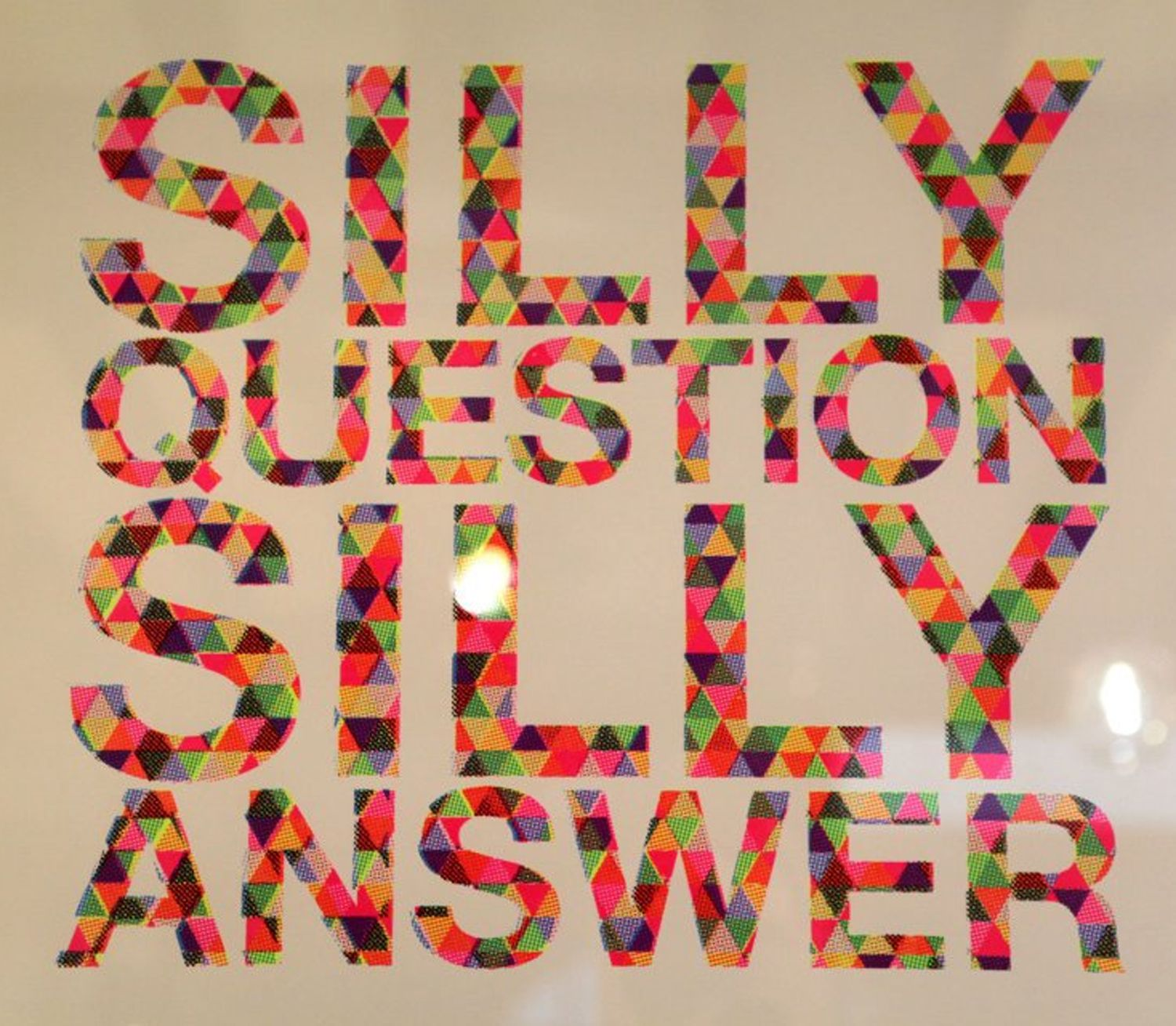 Silly Question...Silly Answer    Mr Gresty Prints are now available in store on the 4th floor