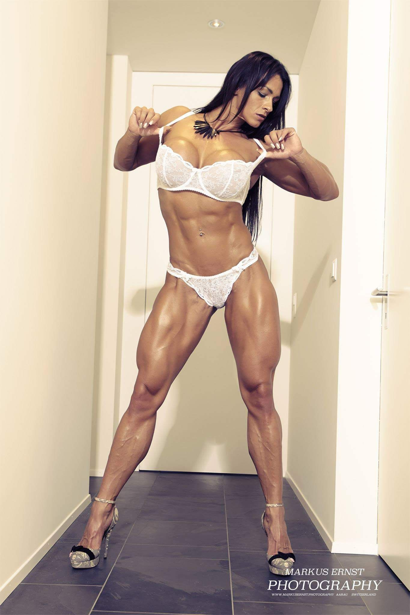 Woman muscle sexy hot video fantasy