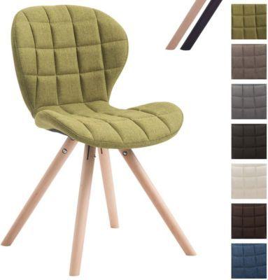 Design Retro Stuhl Alyssa Bein Form Rund Stoff Sitz Gepolstert