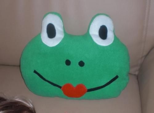 Frosch - Kissen mit Bildanleitung Frog with step by step Photo ...