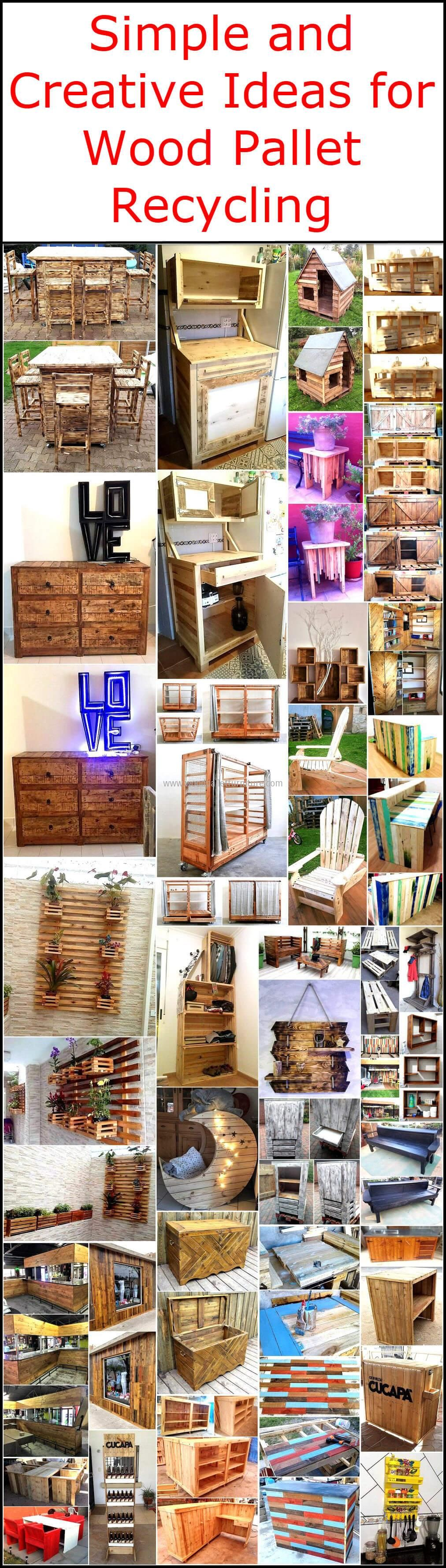 Simple and Creative Ideas for Wood Pallet Recycling #oldpalletsforcrafting