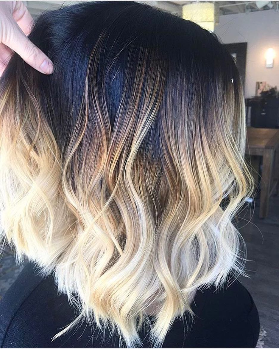 Short hairstyles short ombre hair color pinterest