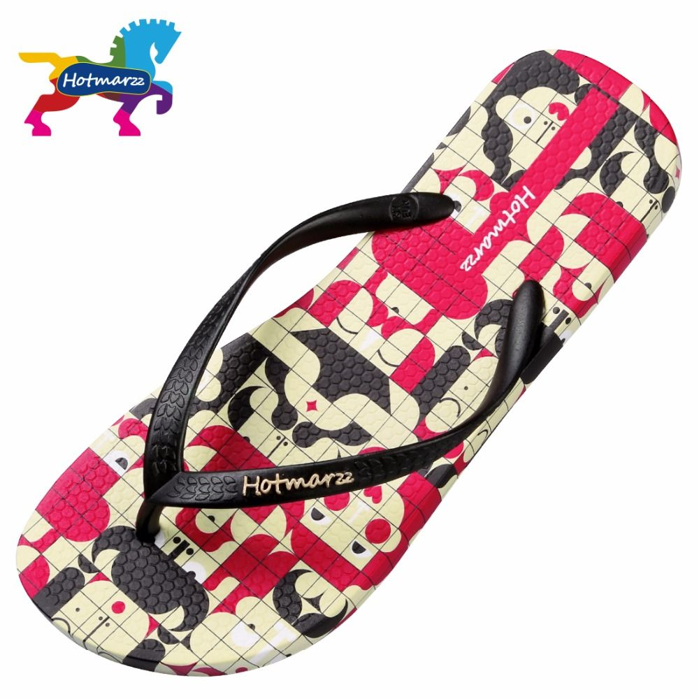 Unisex Non-slip Flip Flops Pink Cartoon Rabbit Cool Beach Slippers Sandal