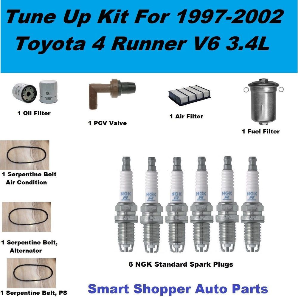 Tune Up Kit 9702 Toyota 4 Runner Serpentine Belt, Spark