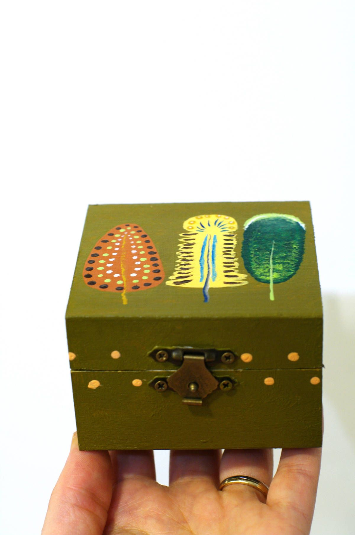 Decorative Boxes Small Wood Keepsake Box Hand Painted Small Wooden Boxes Painted Wood Jewelry Box Smal Painted Wood Jewelry Wood Keepsake Box Wood Gift Box