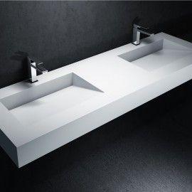 Plan double vasque Corian Tennessee DELABARRE