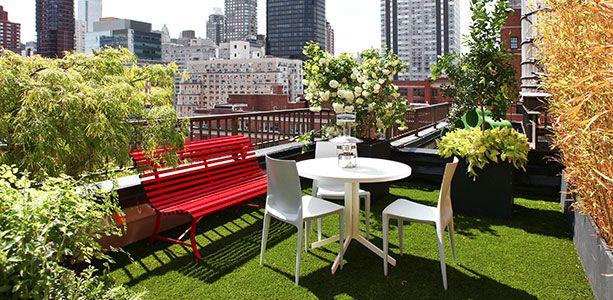 Appartement avec toit-terrasse à New York : une vue imprenable sur Manhattan - Décormag #jardin #terrasse