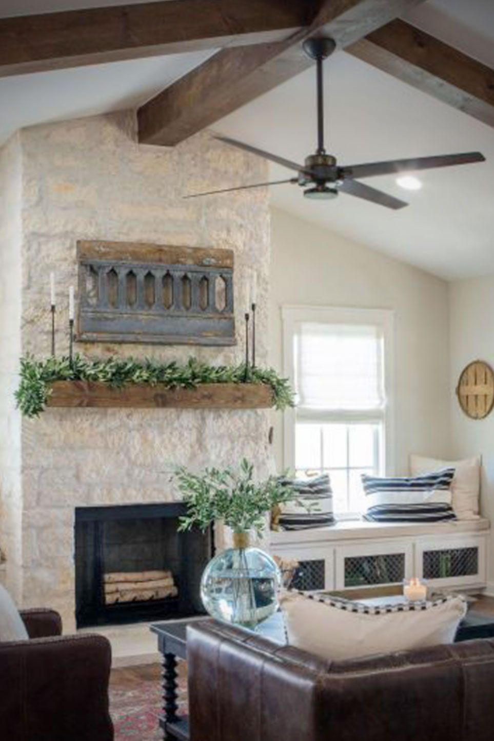 This Cottage Style Fireplace Uses Fond Du Lac Stone From