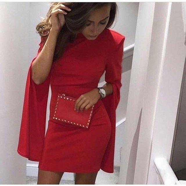 Pin Em Dress Red