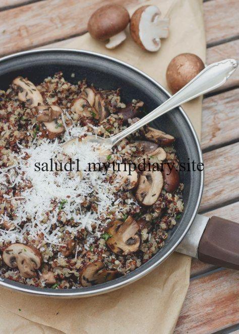Pilz-Quinoa mit Knoblauch und Thymian Pilz-Quinoa mit Knoblauch und Thymian,