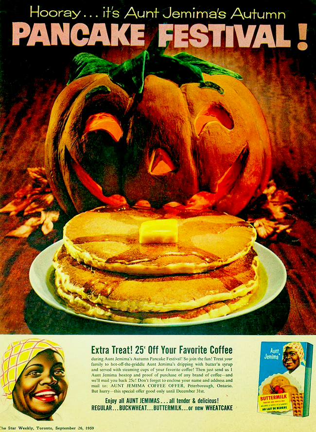 Vintage Halloween Ad - Aunt Jemima's