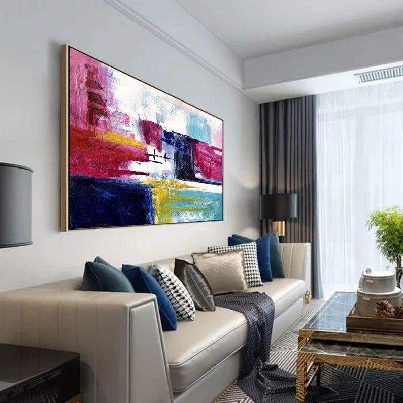 Oversized Abstract Paintingoriginal Canvas Artextra Large Etsy In 2020 Colorful Abstract Painting Modern Art Paintings Abstract Original Canvas Art #oversized #wall #art #for #living #room